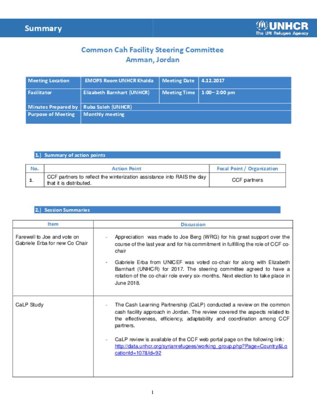 Document - CCF MoM- 4 Dec-2017