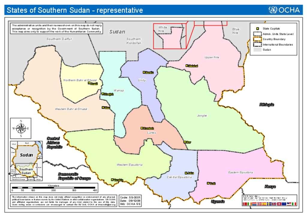 Document - South Sudan Administrative Map (OCHA)