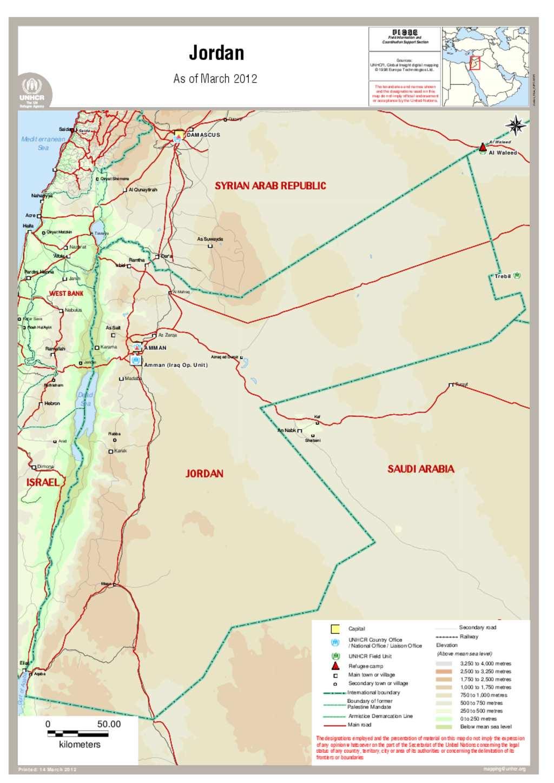 Document Map Of Jordan - Jordan map hd pdf