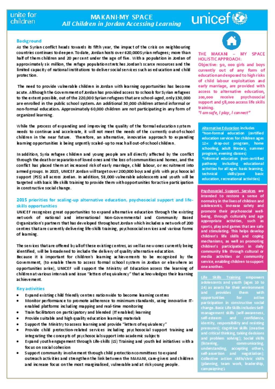 Document - Makani brief-UNICEF