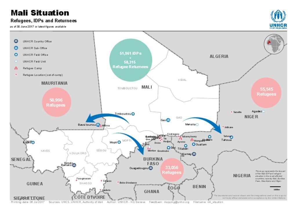 Document - Mali: Refugees, IDPs, and Returnees Map - 30 June ...