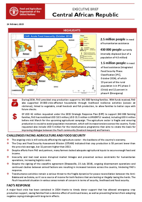 document fao car executive brief 24 february 2015