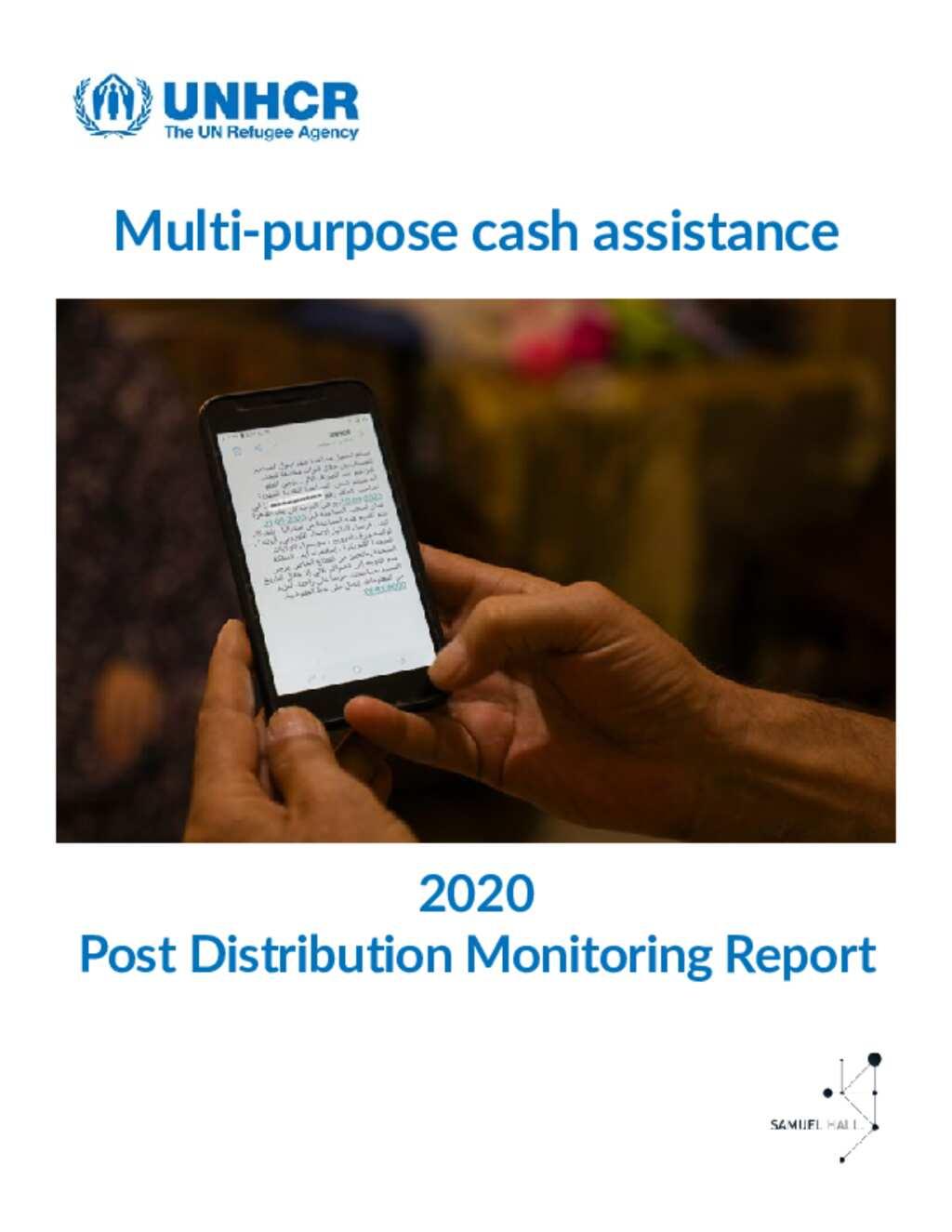 Jordan: Post Distribution Monitoring Report (2020)