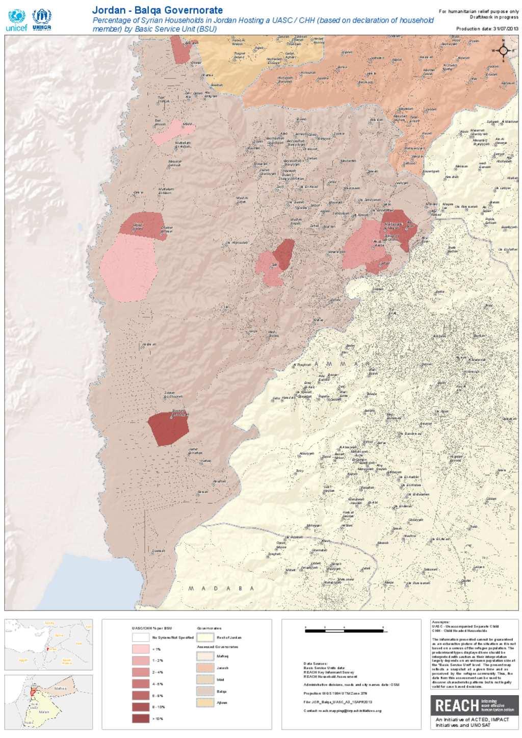 Document Balqa UASC Population Map - Jordan map hd pdf