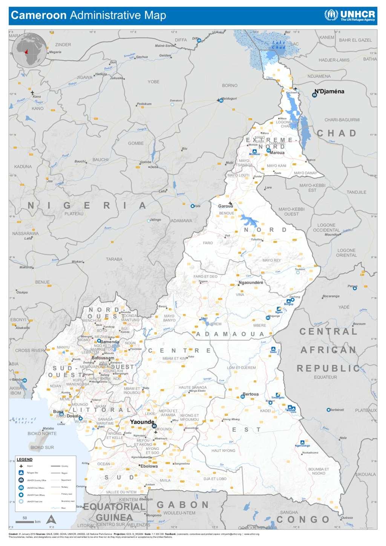 Doent - UNHCR Cameroon | Administrative Map on côte d'ivoire map, estonia map, grenada map, monaco map, gambia map, saudi arabia map, rwanda map, madagascar map, ghana map, egypt map, mali map, sudan map, namibia map, croatia map, tunisia map, congo map, algeria map, thailand map, kenya map, angola map, liberia map, cape verde map, morocco map, gabon map, uganda map, africa map, libya map, nigeria map, senegal map, malawi map, ecuador map, comoros map, niger map, ethiopia map, mozambique map, zimbabwe map,