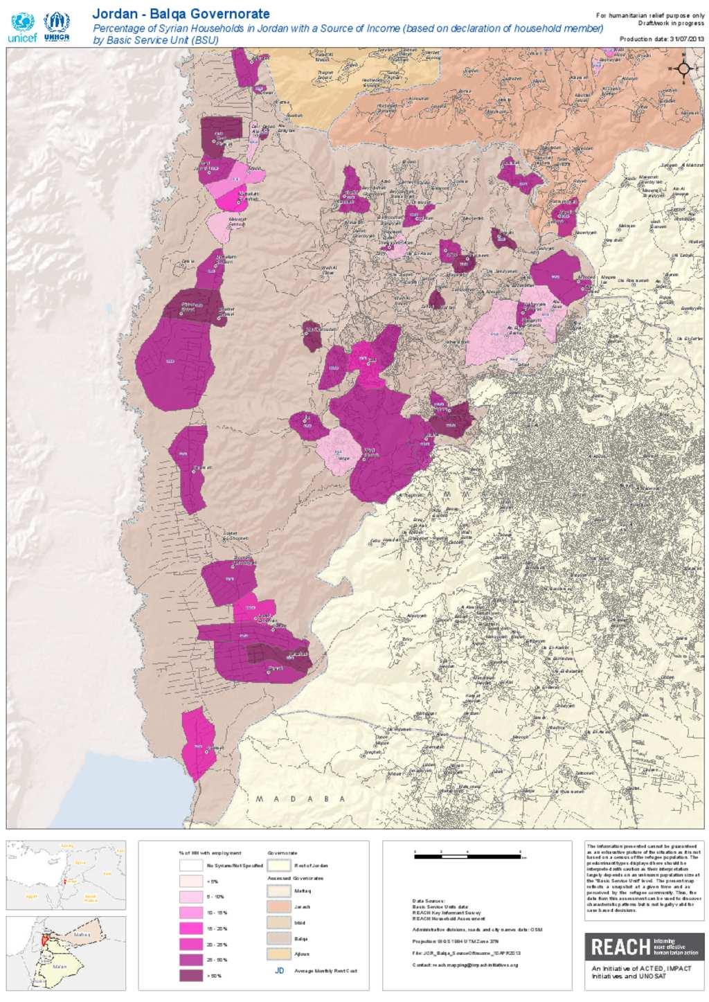 Document Balqa Source Of Income Population Map - Jordan map hd pdf