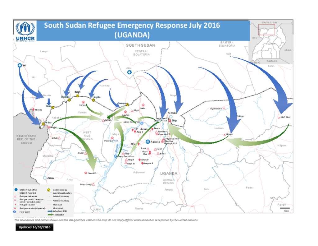 Document - Uganda -South Sudan Refugee Influx Map