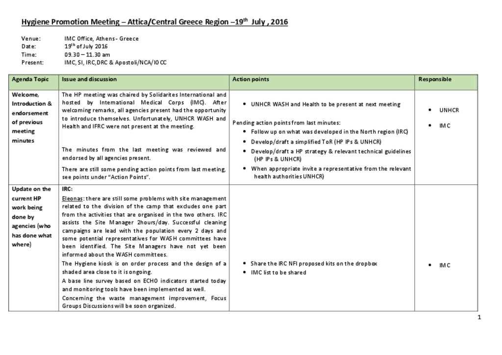 Document - Hygiene Promotion Meeting Minutes_Attica 19072016