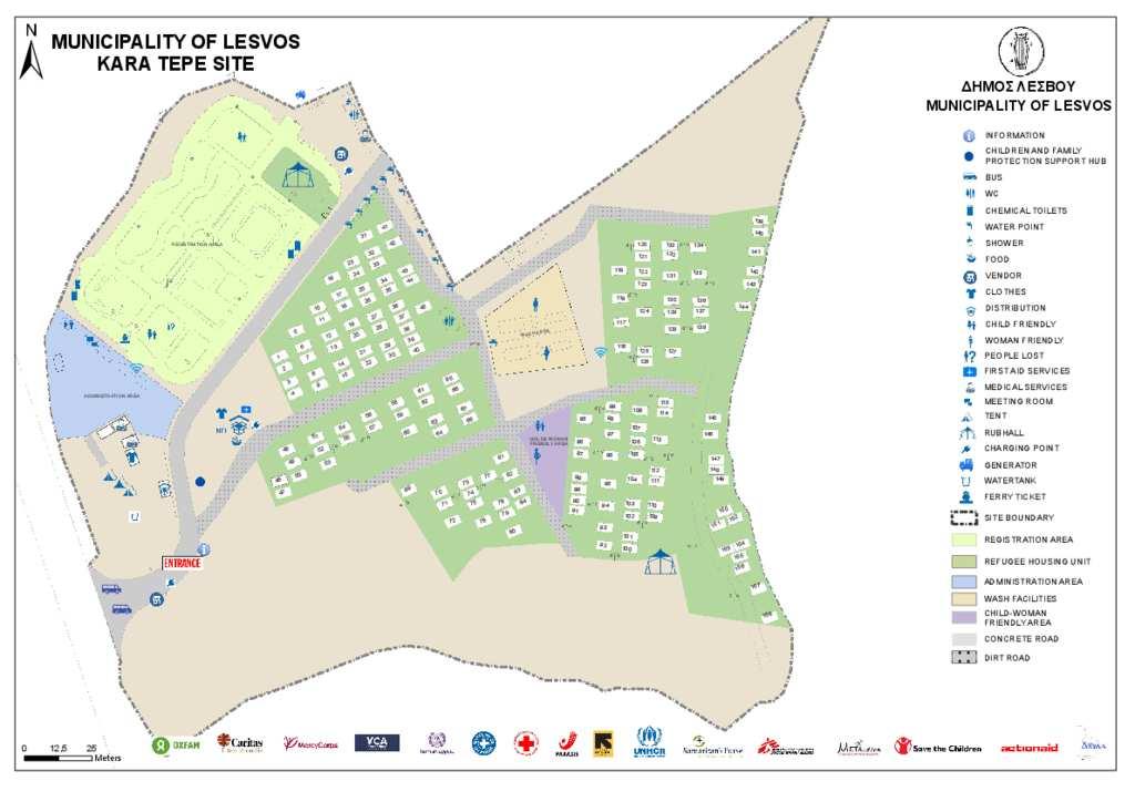 Document - Lesvos, Kara Tepe site map