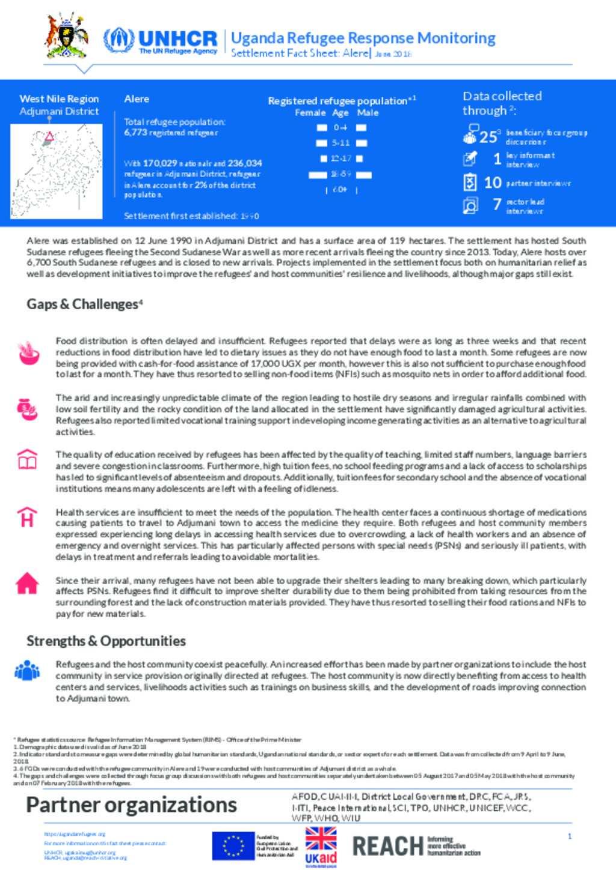 Document - UGA Factsheet Alere Gap Analysis – June 2018