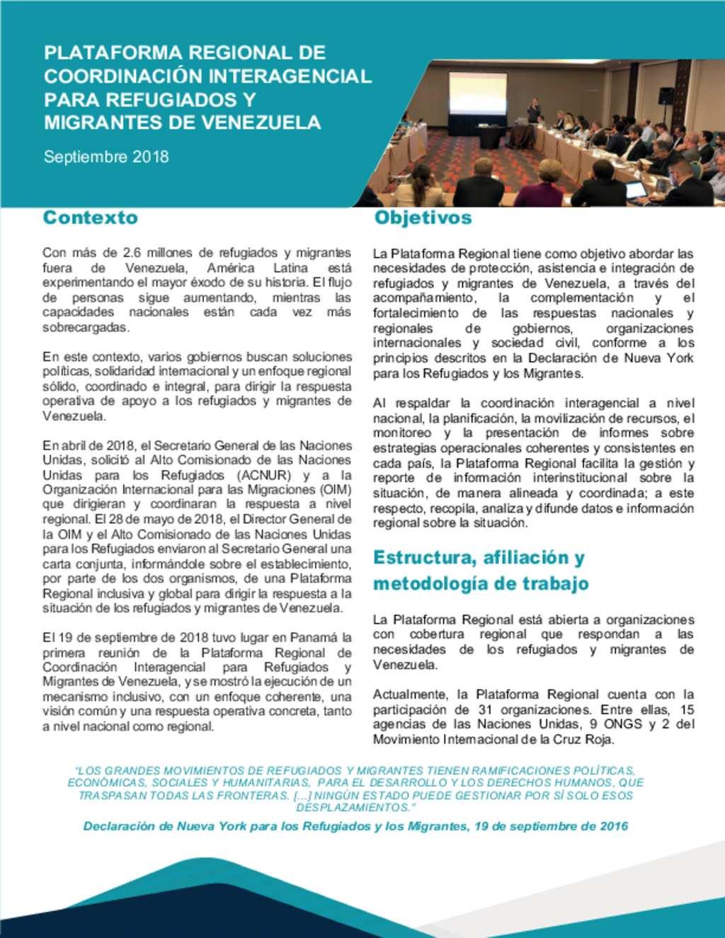Document R4v Plataforma Regional Informe De Reunión No 1