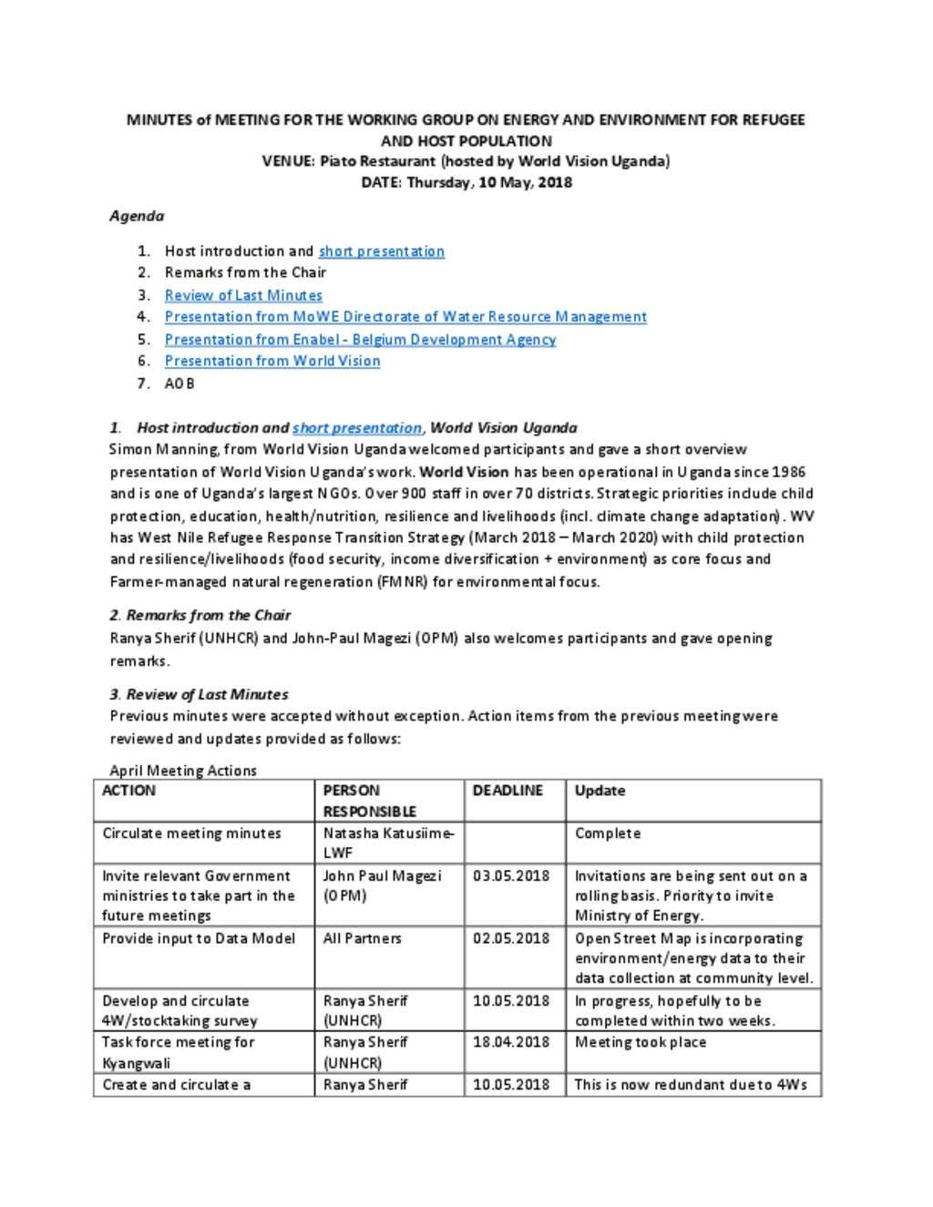 Document - 20180510 MoM - WorkGrEEn for ReHoPE