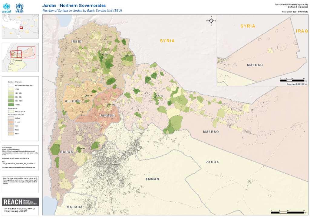 Document North Jordan Population Map - Jordan map hd pdf