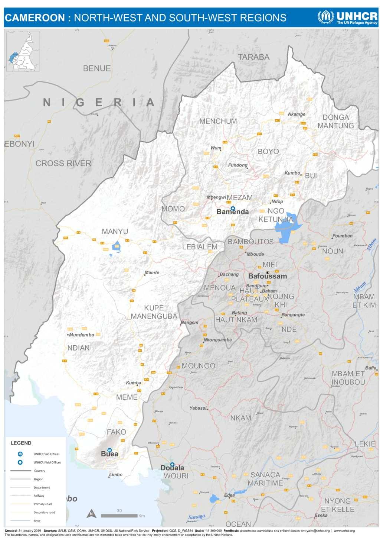 Document - UNHCR Cameroon | Administrative Map | NorthWest ...