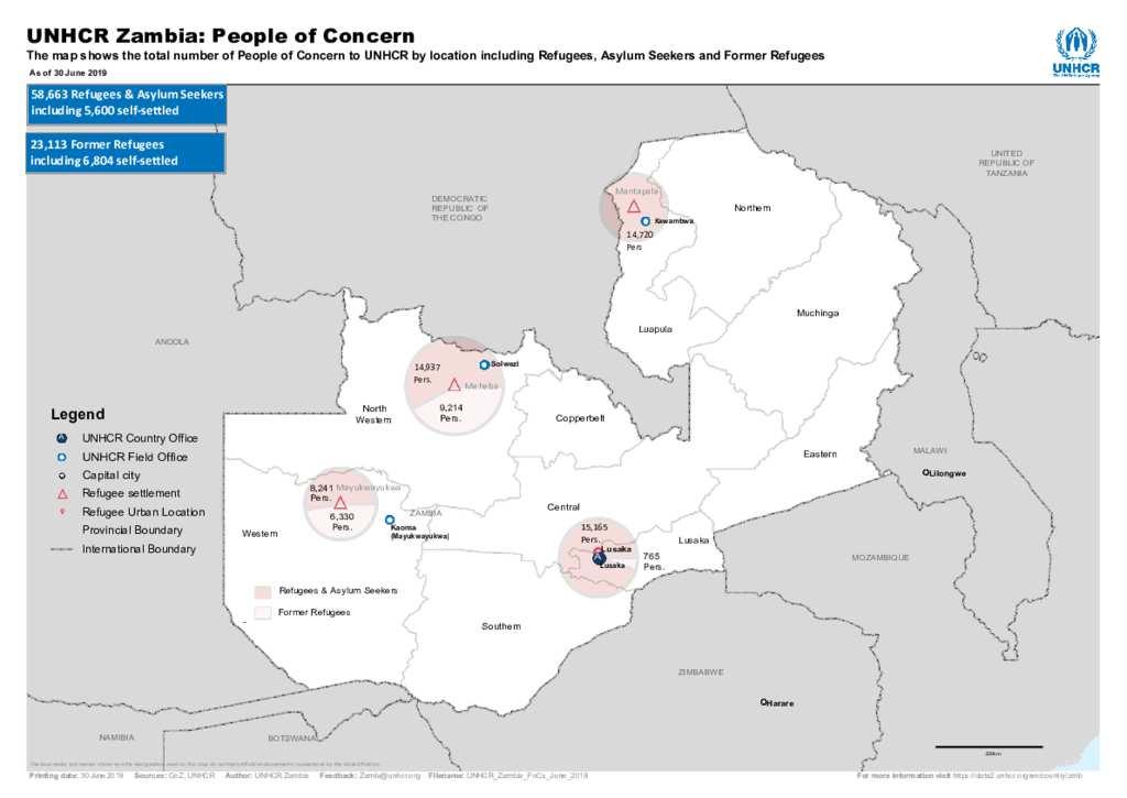 Map Zambia.Document Unhcr Zambia Refugee Map