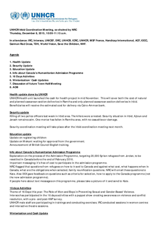 Document - MoM Irbid Coordination 2015-12-08