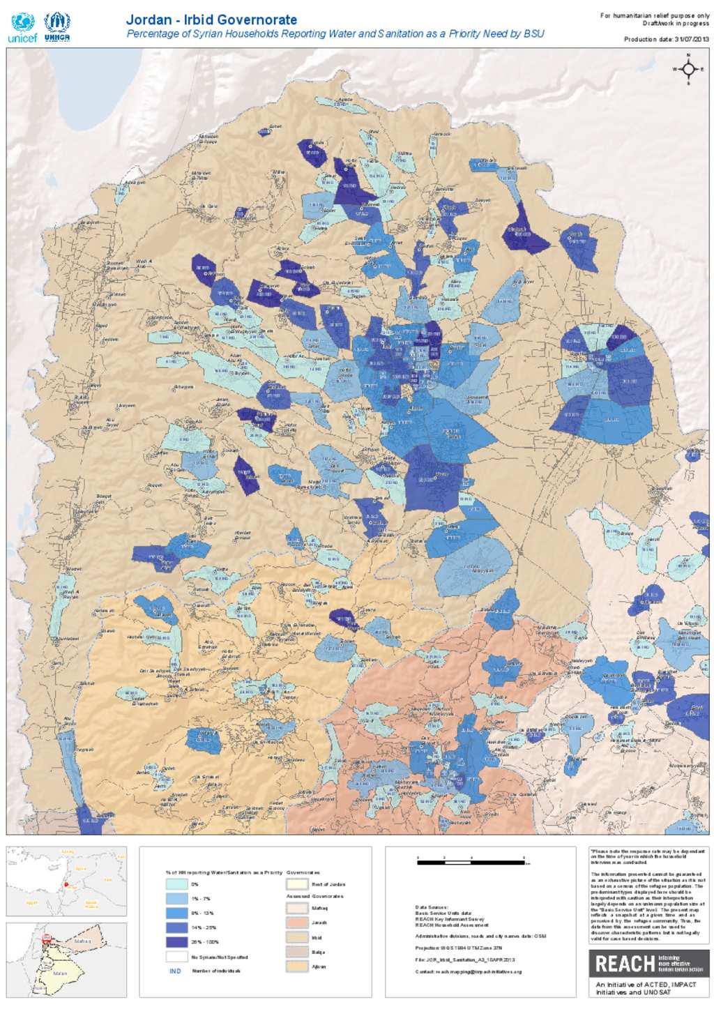 Document Irbid Sanitation Population Map