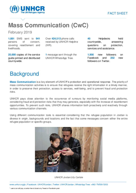 Document - Fact Sheet - Mass Communication in February 2019