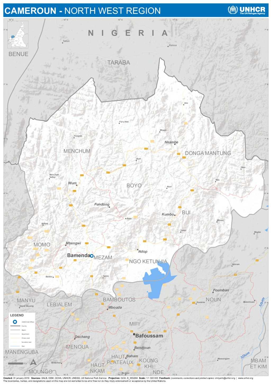 Document - UNHCR Cameroon | Administrative Map | NorthWest region